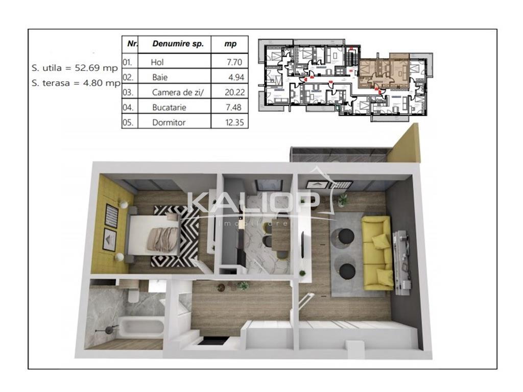Apartament 2 camere decoamdate in Buna Ziua zona Lidl