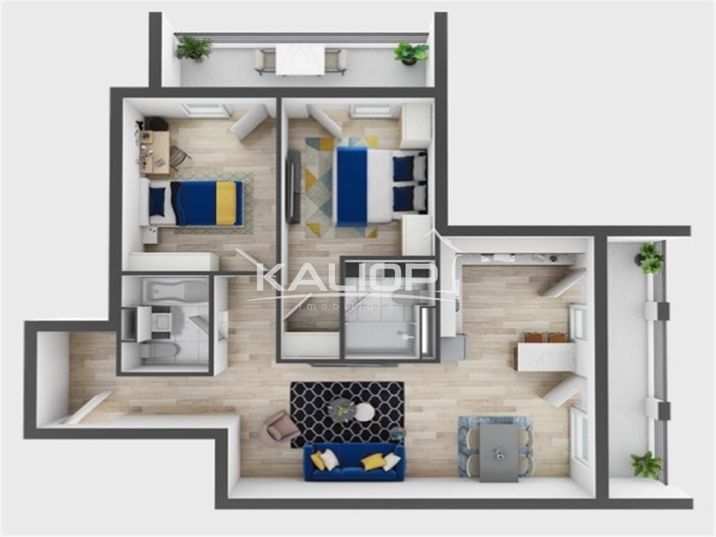 Apartament 3 camere   Terasa generoasa   2 bai   Zorilor