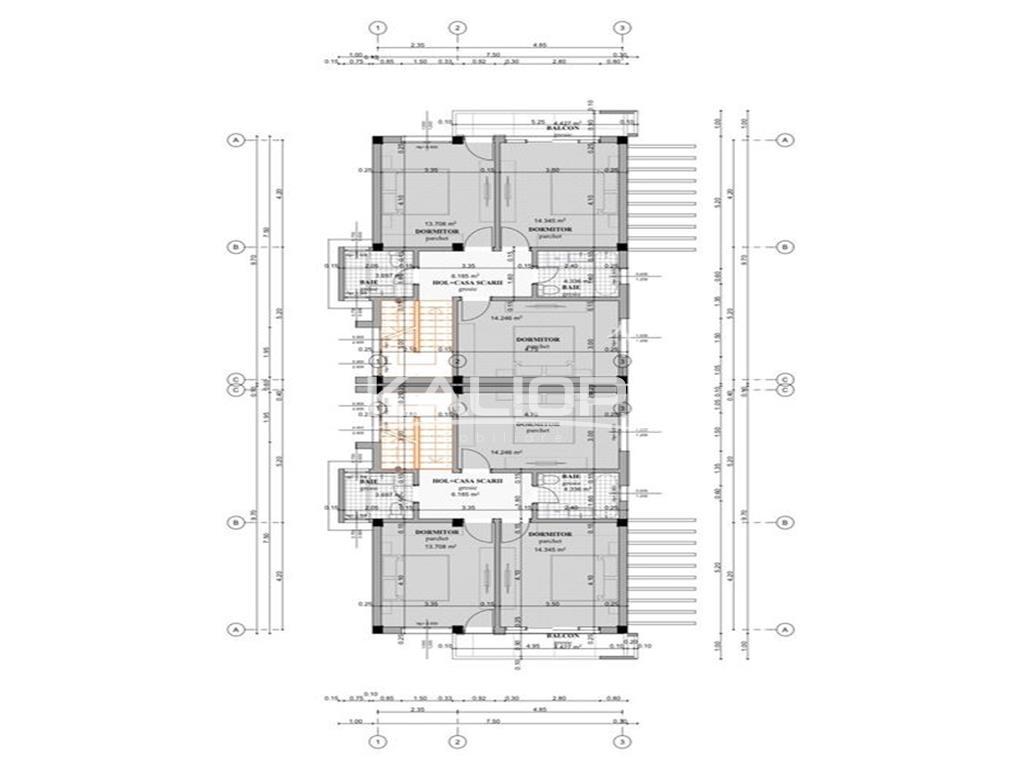 Duplex cu 5 camere in Floresti zona Aqua Park