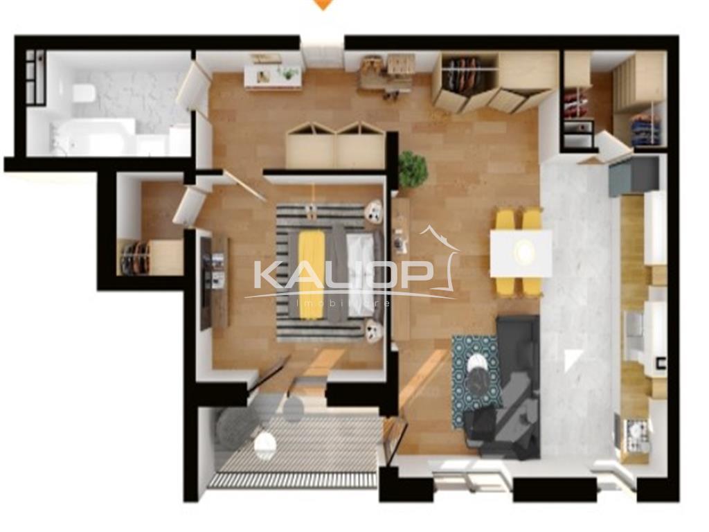 Apartament 2 camere,constructie finalizata cu CF,Buna Ziua