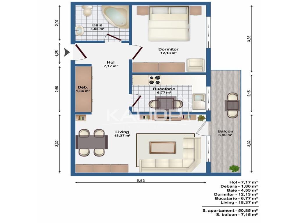 Apartament 2 camere cu garaj subteran in Europa