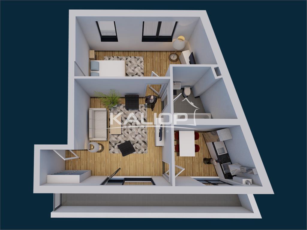 Apartament cu 2 camere ultracentral